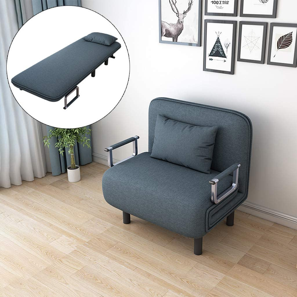 Amazon.com: Folding Sleeper Chair Convertible Sofa Bed Recliner Lounge Position Folding Sleeper Arm Couch Small Apartment Small Room Space-Saving Creative Home Decor(US Fast Shippment) (Blue): Kitchen & Dining