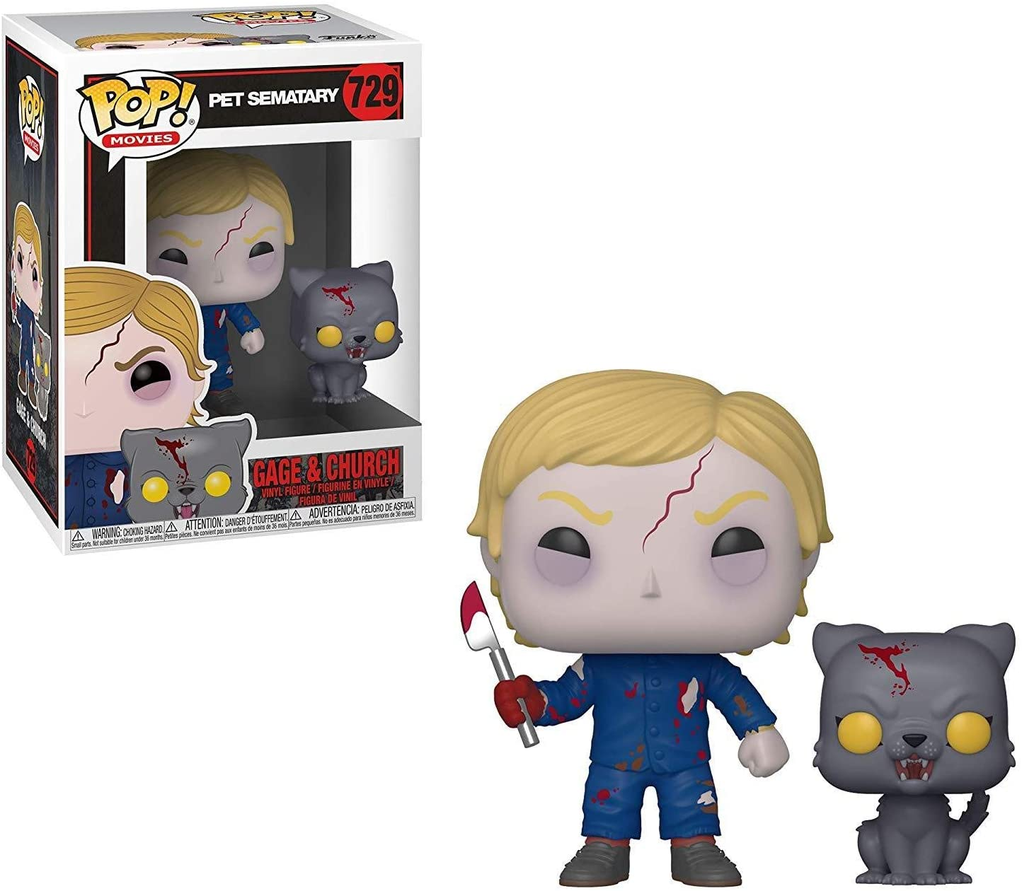 Funko- Pop & Buddy Vinilo Pet Sematary Undead Gage & Church Figura Coleccionable, Multicolor, Talla única (37628)
