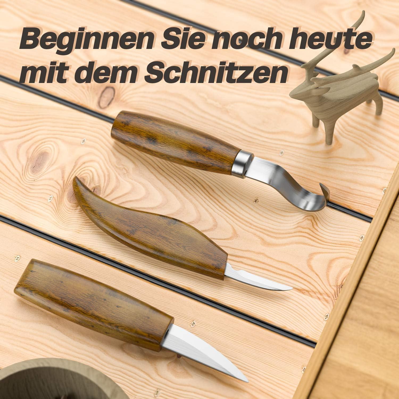 Herramientas para tallar madera para tallar madera Anzorhal 11 unidades tornos Juego de herramientas para tallar madera tallado proyectos