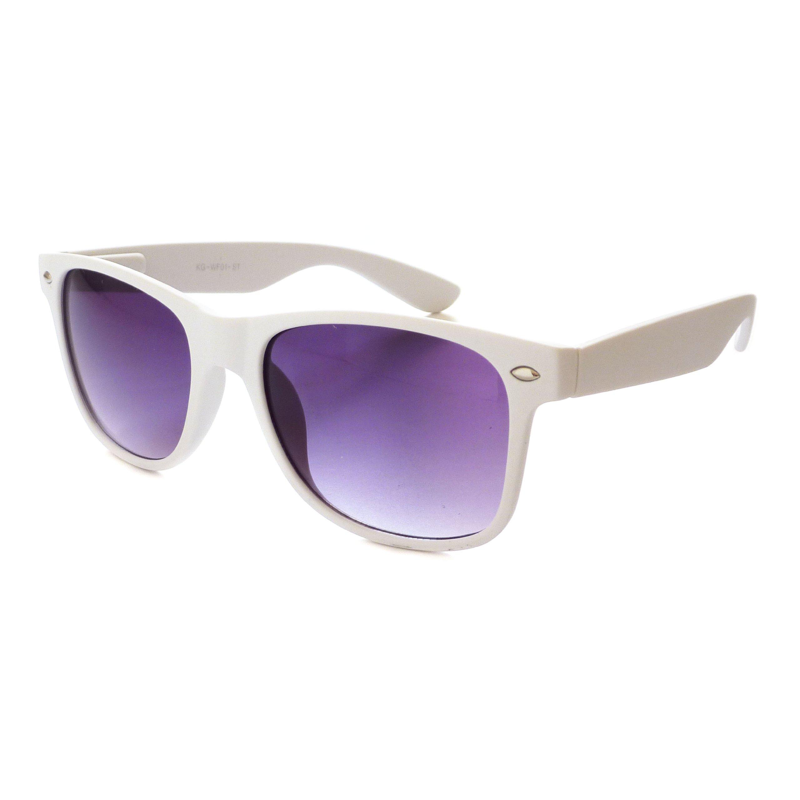 KIDS Childrens CUTE Matte Trendy Sunglasses Age 3-10 WHITE