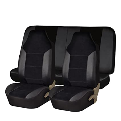 or Van FH GROUP FH-FB071115 Complete Set Travel Master Seat Covers Airbag Ready /& Rear Split Solid Black- Fit Most Car Truck SUV