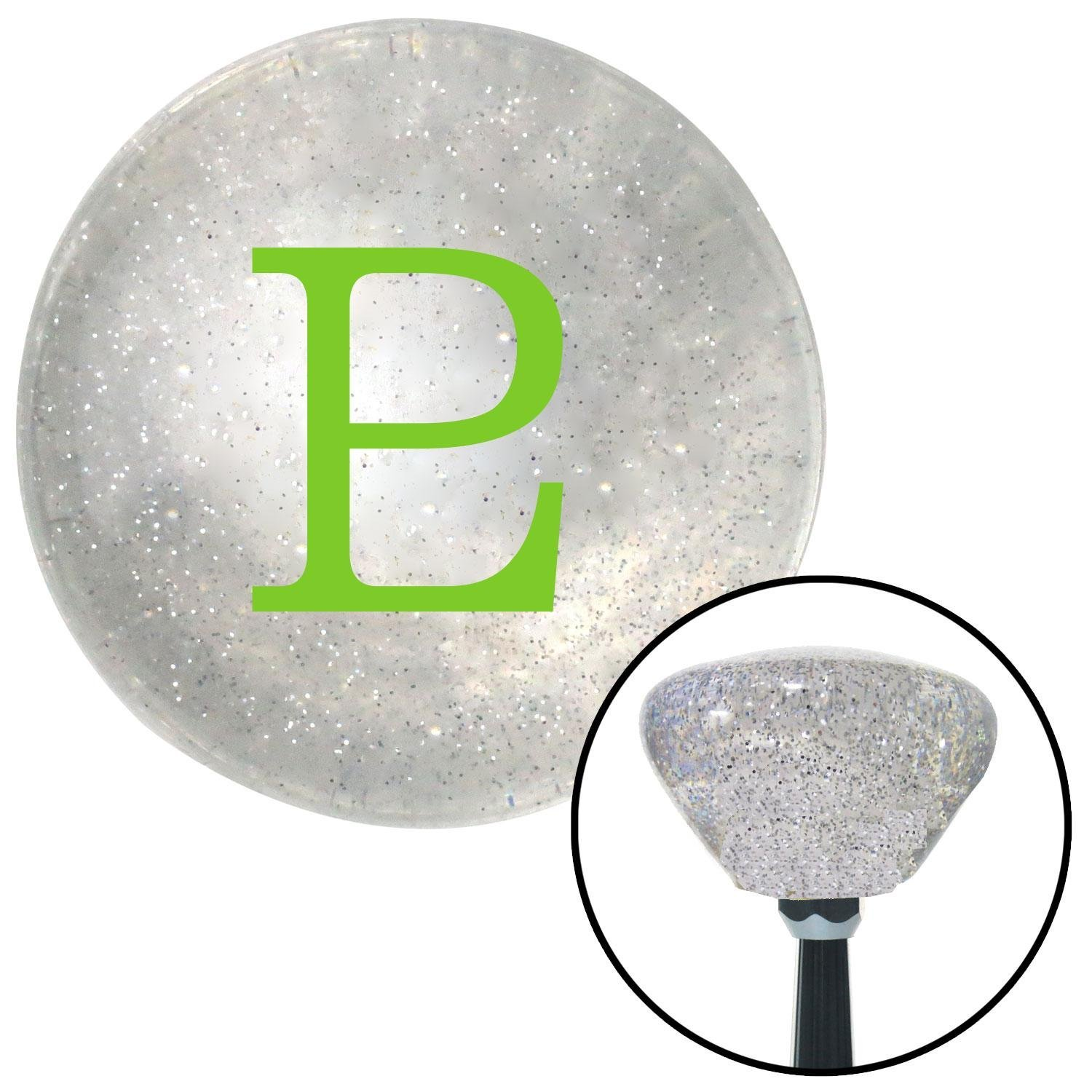 Green Pluto American Shifter 163740 Clear Retro Metal Flake Shift Knob with M16 x 1.5 Insert