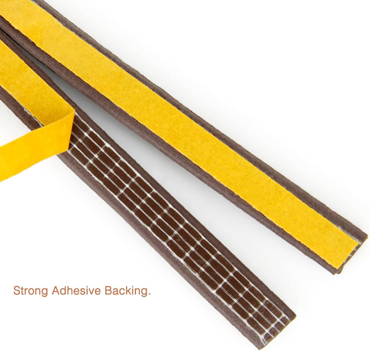 Collision Avoidance D Brown Dustproof Weather Stripping,Door Window Adhesive Seal Strips for Windproof Soundproof Weatherproof Seal 50 Feet