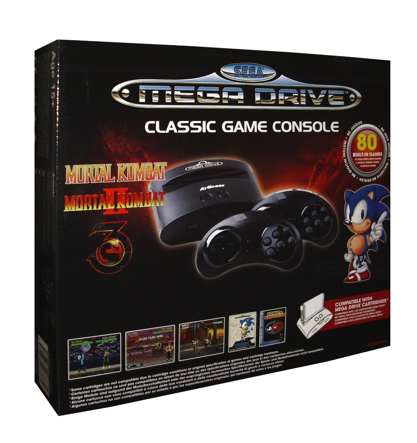 Sega Genesis Deluxe Classic Game Console Exclusive 85 Built in Games