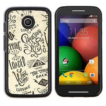 Snap-on Series Teléfono Carcasa Funda Case Caso para MOTOROLA Moto E / XT1021 /