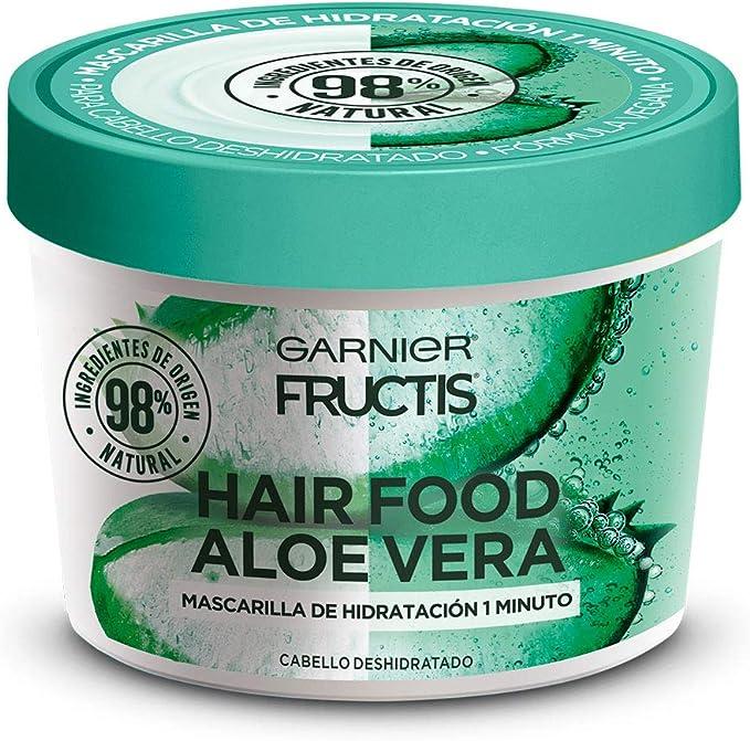 Garnier Fructis H5537200 Mascarilla para Cabello Natural Vegana Anti Frizz con Fructis Hair Food, Verde, 350 ml: Amazon.com.mx