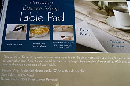 Amazoncom Heavyweight Deluxe Vinyl Table Pad With Flannel Backing - Vinyl table protector pad