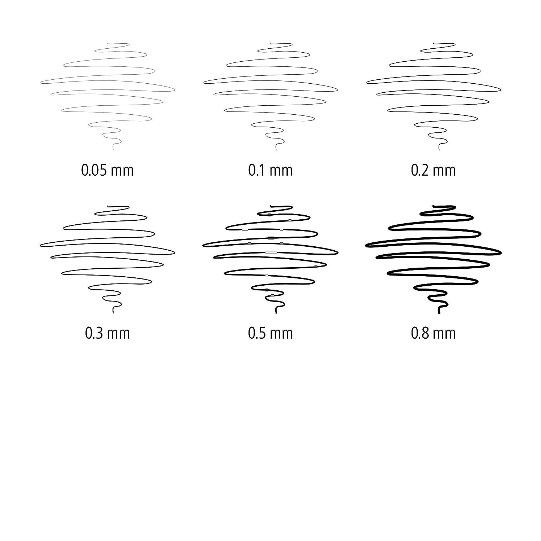 Staedtler pigment liner penna fineliner nero 0.05-2.0 mm astuccio da 8