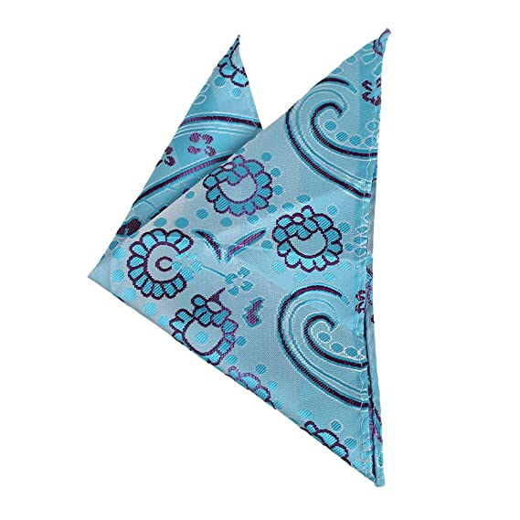 DEE7B11B Blue Designer Fashion Patterned Microfiber Contemporary Perfect Birthday Gifts Ideas Mens Hanky Set By Dan Smith