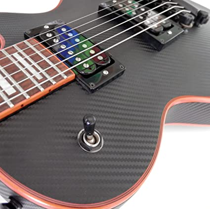 Amazon.com: Black Carbon Fiber Vinyl Skin Wrap for Electric and Bass Guitars Air Lease Sticker DIY: Everything Else
