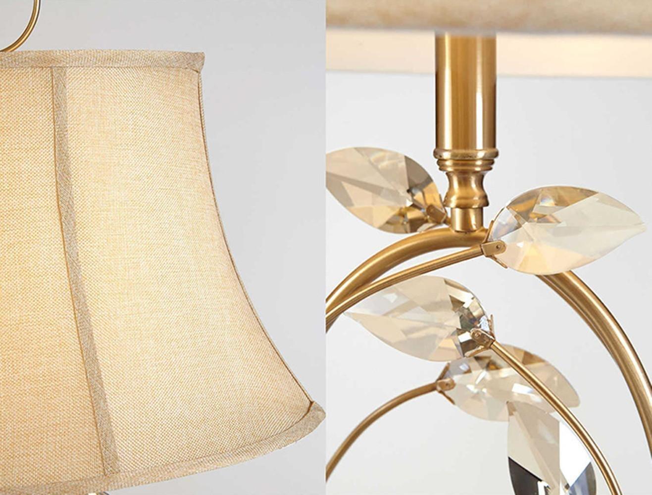 DENG DLUF E27 E27 E27 Crystal Tischlampe European Minimalist Modern Style Schlafzimmer Wohnzimmer Hotel Dekoration Creative Messing Lampe B07HRGVWP4 | Qualitätskönigin  3fa977