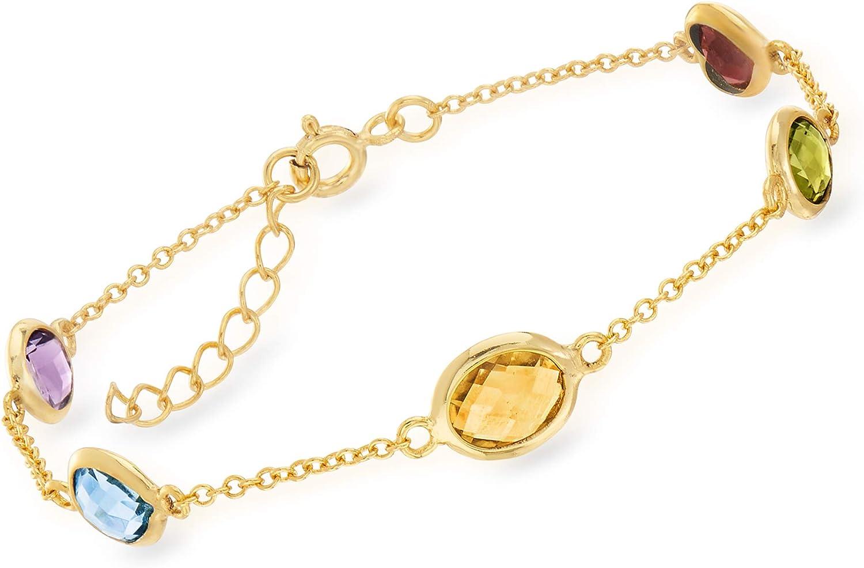 """Sterling Silver 7 Garnet Station Stackable 8/"""" Bangle 4mm Ladies Bracelet"""