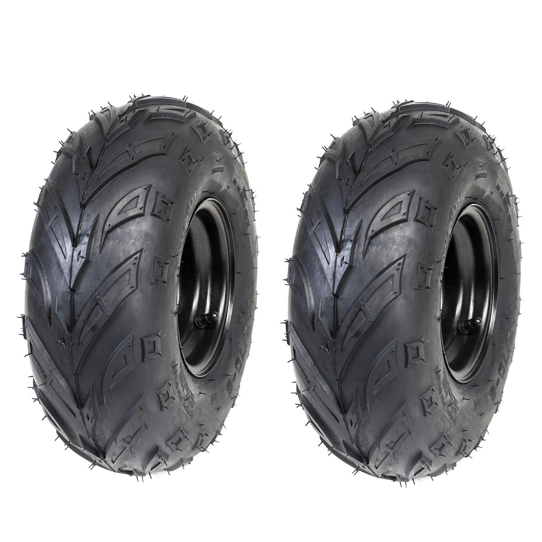 ZXTDR Pack of 2 ATV Tires 145/70-6 Wheels with Rims | Tubeless tire for Go Kart UTV Quad Bike