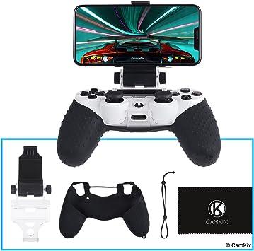 Amazon.es: CAMKIX Soporte para teléfono y Funda de silicón para Control PS4 - Ideal para Juegos remotos PS4/ Juegos móviles - Ángulo de visión Ajustable, Ajuste, máxima Comodidad y Agarre