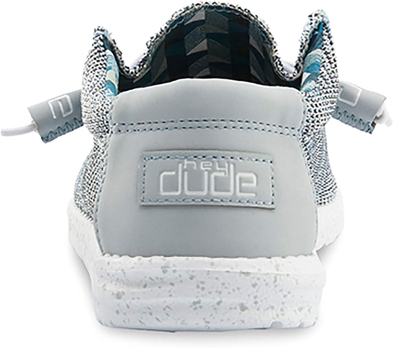 Comfort e Leggerezza Scarpa Casual Slip-On da Uomo Soletta Ergonomica in Memory Foam Hey Dude Wally Sox Progettata in Italia e California Size EU 44 // US 11 Ice Grey