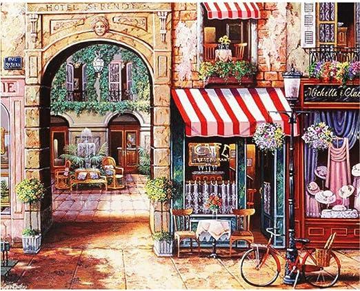 Pintura Digital,Hermoso Arco Con Arco, Paisaje De Bicicleta ...