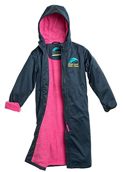 Amazoncom Great Aussie Swim Parkas Swim Team Parka Jacket