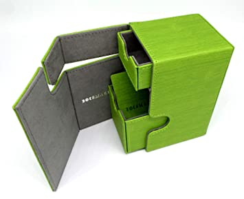 docsmagic.de Premium Magnetic Tray Box (100) Light Green + Deck ...
