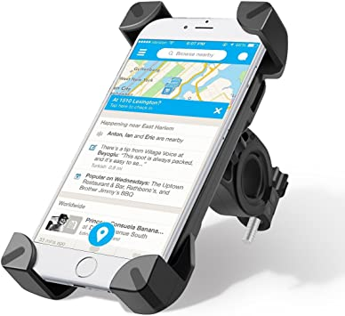 Wrcibo Soporte móvil Bicicleta, Montura Soporte Universal de Bicicleta Ajustable de Teléfono para el Smartphone iPhone GPS (Negro): Amazon.es: Electrónica