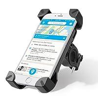 Supporto Bici Smartphone, Wrcibo Supporto Manubrio Universale Bici Moto porta Telefono per Smartphone GPS e altri dispositivi elettronici (Nero)
