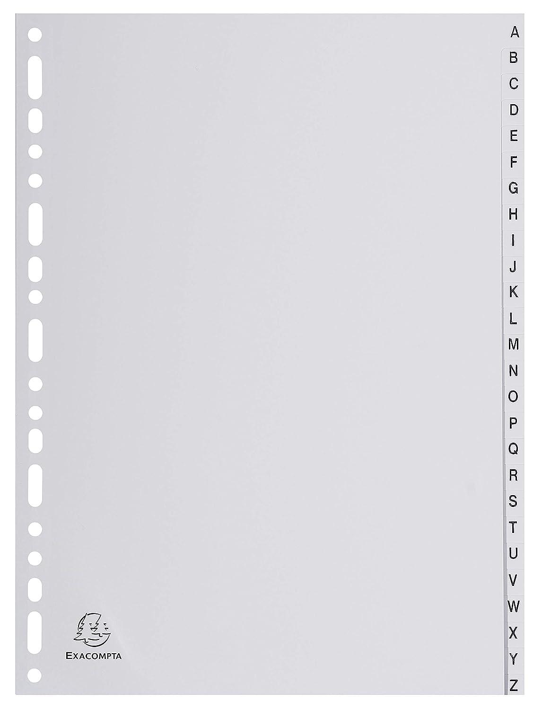 Register mit Beschriftungsfeld 26 Positionen Taben A-Z Grau