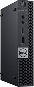 Dell OptiPlex 7070 MFF Desktop Computer Intel Core 9th Gen i7-9700T 2.00GHz to 4.30GHz 8-Cores CPU 32GB DDR4-2666MHz Memory 1TB NVMe PCIe SSD 1TB SATA HHD Windows 10 Pro Dell 3-Years ProSupport Plus