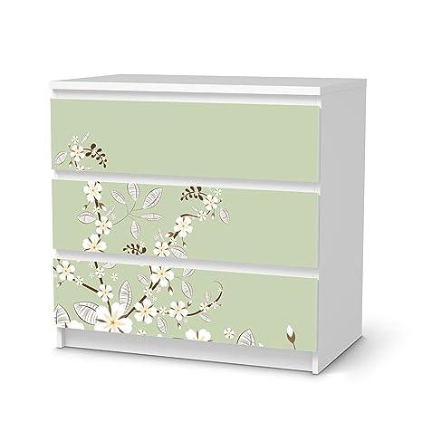 Cassettiera Malm Ikea 3 Cassetti.Mobili Adesivo Ikea Malm 3 Cassetti Design Adesivi White Blossoms