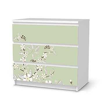 Creatisto Dekoration Für IKEA Malm 3 Schubladen | Klebefolie  Möbel Aufkleber Folie Möbeltattoo | Zimmer