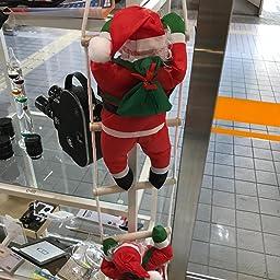 Amazon Co Jp Yosoo クリスマス 飾り はしごサンタクロース 装飾 18 新年 19 屋外 はしご サンタはしご クリスマスツリー飾り サンタ人形はしご 2人105cm Xmas Decoration 吊り装飾用 屋外用 業務用クリスマスツリー インテリア飾り クリスマスパーティー吊り 装飾用