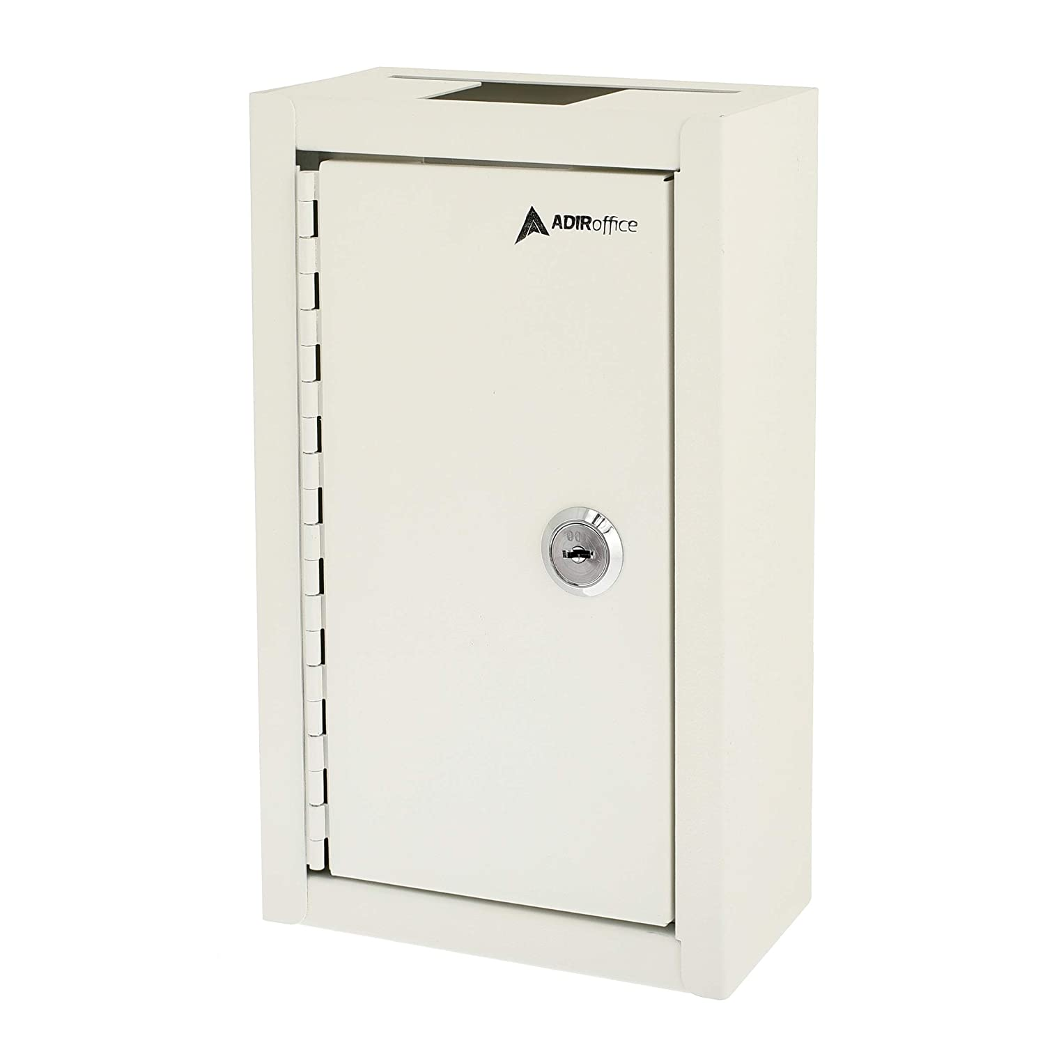 AdirOffice Large Key Drop Box for Home /& Business Use White Large Capacity Commercial Grade Storage Box Safe /& Secure Parcel /& Packages