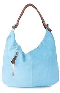 7909ee9955a9 Big Handbag Shop Women Real Italian Suede Leather Large Hobo Shoulder Bag