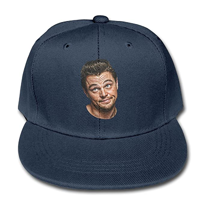 b7c6c359483 JSWALA Unisex Kids Leonardo Dicaprio Solid Baseball Caps Snapback Hats Navy