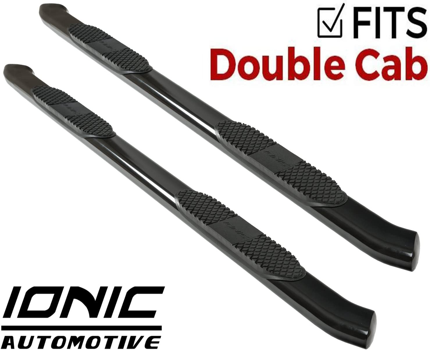 Ionic Pro Series 5 All Stainless Oval Nerf Bars 2008-2018 Chevy Silverado GMC Sierra Gas Double//Extended Cab Only Truck Side Steps 5710200