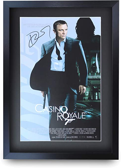 HWC Trading A3 FR James Bond - Casino Royale Movie Poster Daniel Craig  Signed Gift FRAMED A3 Printed Autograph Film Gifts Print Photo Picture  Display: Amazon.co.uk: Kitchen & Home