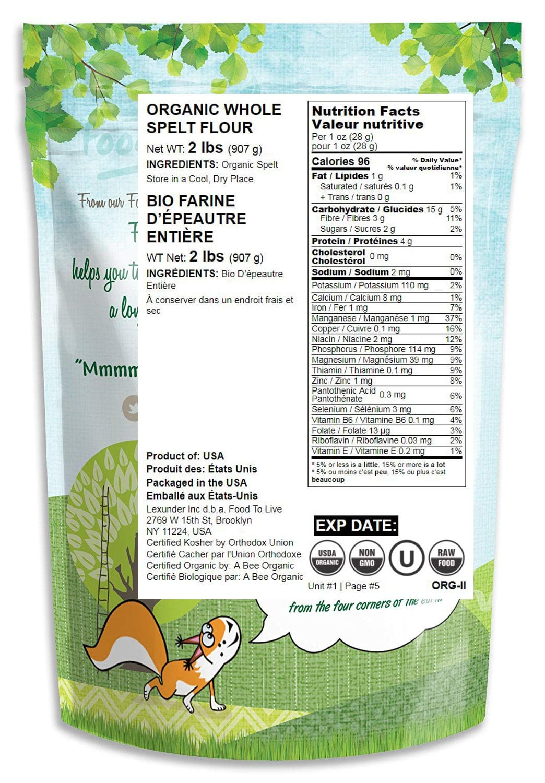 Harina de espelta orgánica: Amazon.com: Grocery & Gourmet Food