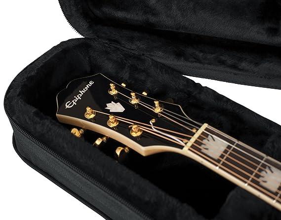 f371a8f7040 Gator Rigid Rigid EPS Foam Lightweight Case for Jumbo Acoustic Guitars:  Amazon.co.uk: Musical Instruments