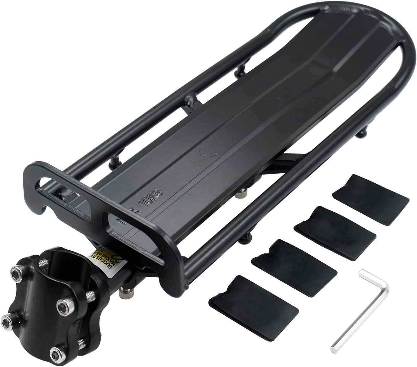 Aluminum Alloy Bicycle Back Rear Seat Rack Bracket Frame Luggage Carrier Holder
