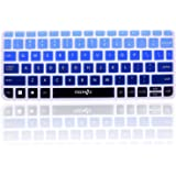 COSMOS Ultra Thin silicone soft keyboard cover skin for Logitech Wireless Built-In Touchpad Keyboard K400 Plus (Blend Blue)