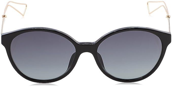 Christian Dior Damen Sonnenbrille DIORCONFIDENT1 HD Qfe, Schwarz (Black Rosegld/Grey Sf), 54