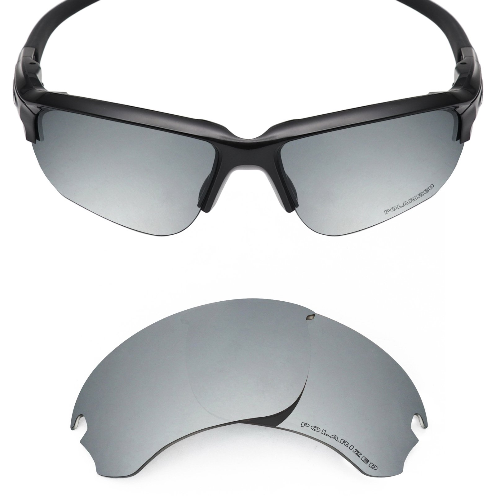 Mryok+ Polarized Replacement Lenses for Oakley Si Speed Jacket - Silver Titanium by Mryok