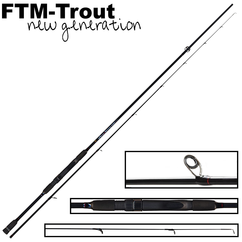 Spinnrute FTM Virus Spoon XP 3 1,90m 1-8g Ultra Light Rute zum Spinnangeln