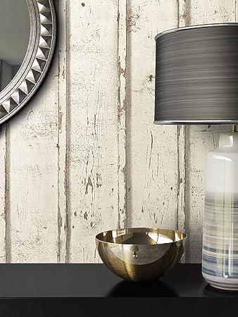 Tapete Vlies Antik Holz Muster In Creme Weiß | Schöne Edle Tapete Im  Antikholz Design |