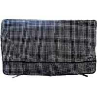 """Outdoor TV Cover Weatherproof Universal Protector for 28"""" - 43"""" Protect Your TV Built in Remote Controller and HDMI Cable Storage -Support Machine Washable (40 INCH, Black&White)"""