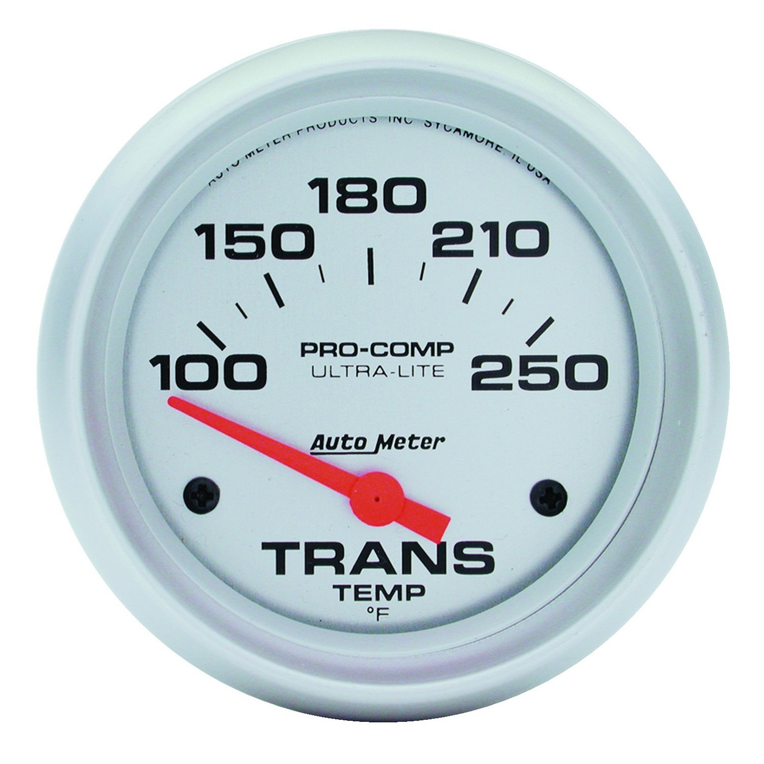 Auto Meter 4457 Ultra-Lite 2-5/8' 100-250 F Short Sweep Electric Transmission Temperature Gauge