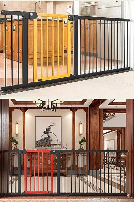 Barrera de Seguridad Barrera de Seguridad Para Escaleras, Puerta De Seguridad Para Bebés, Guardabarros de Madera Maciza, Puerta De Aislamiento Para Bebés, Para Puertas / Pasillos / Escaleras Puerta de: Amazon.es: Hogar