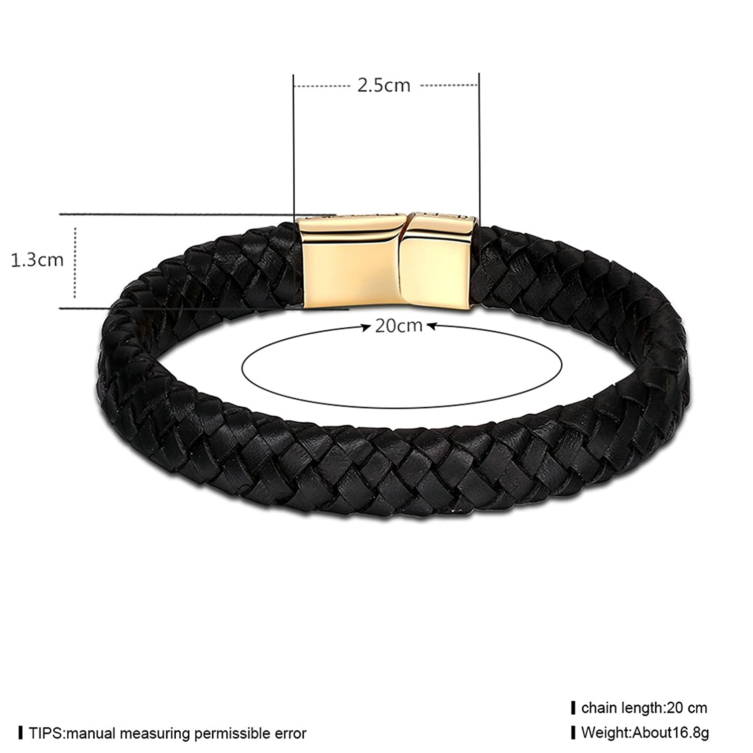 Amazon com: Aokarry Jewelry- Leather Bracelet for Men Cross