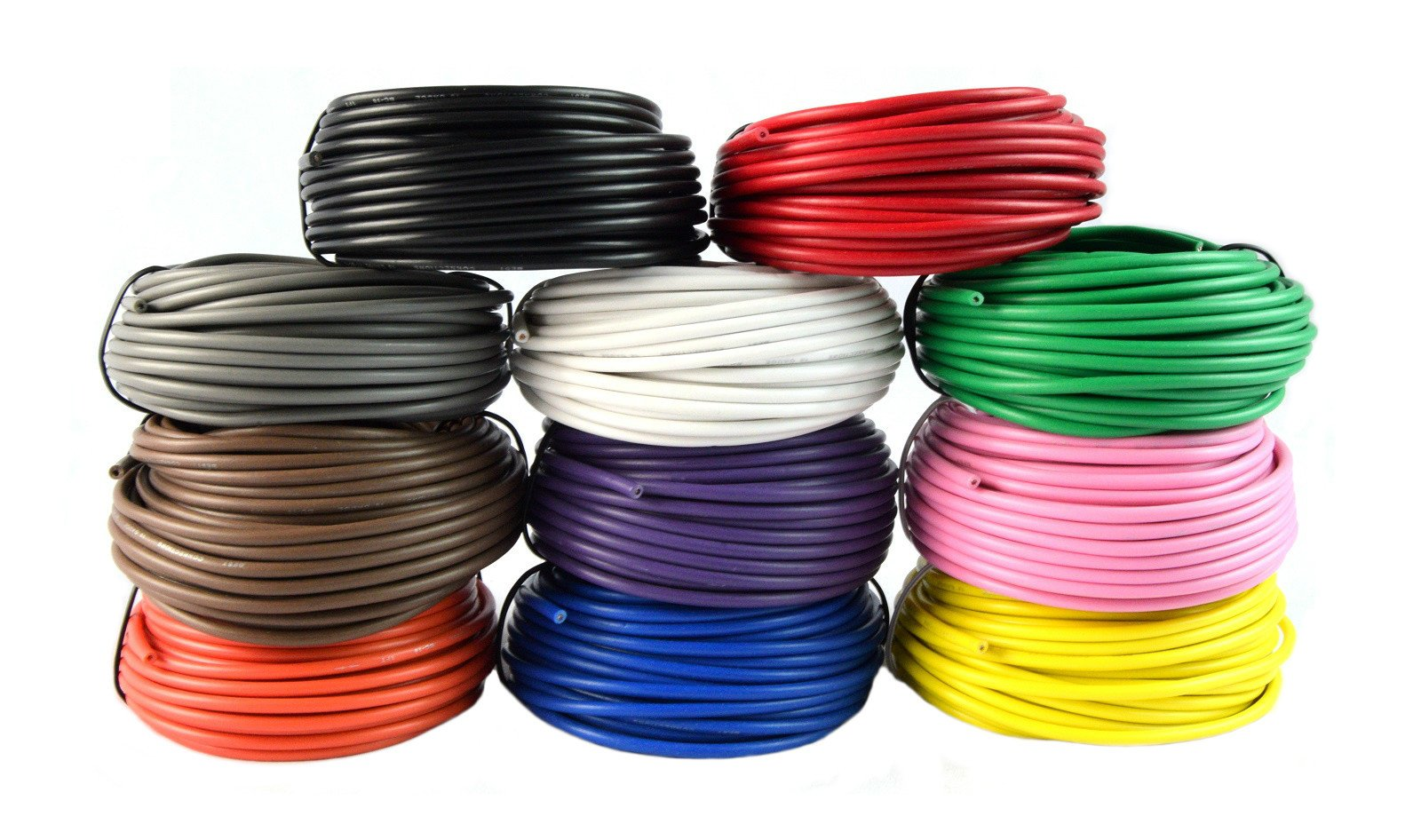 18 Gauge Single Conductor Stranded Remote Primary Wire 11 Rolls 12 Volt 25 Feet Each