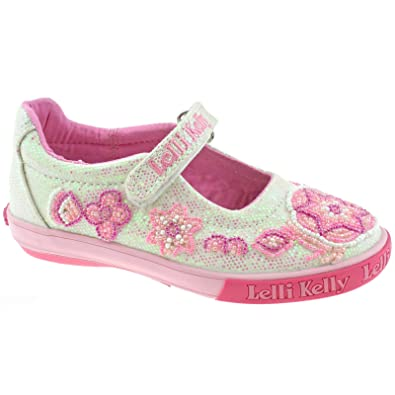a7d53aba25 Lelli Kelly LK4082 (GA01) White Glitter Shining Star-32 (UK 13): Amazon.co. uk: Shoes & Bags