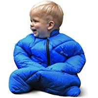 Morrison Outdoors Little Mo 40° Baby Sleeping Bag with Adjustable Open-and-Close Cuffs (Blazing Blue)