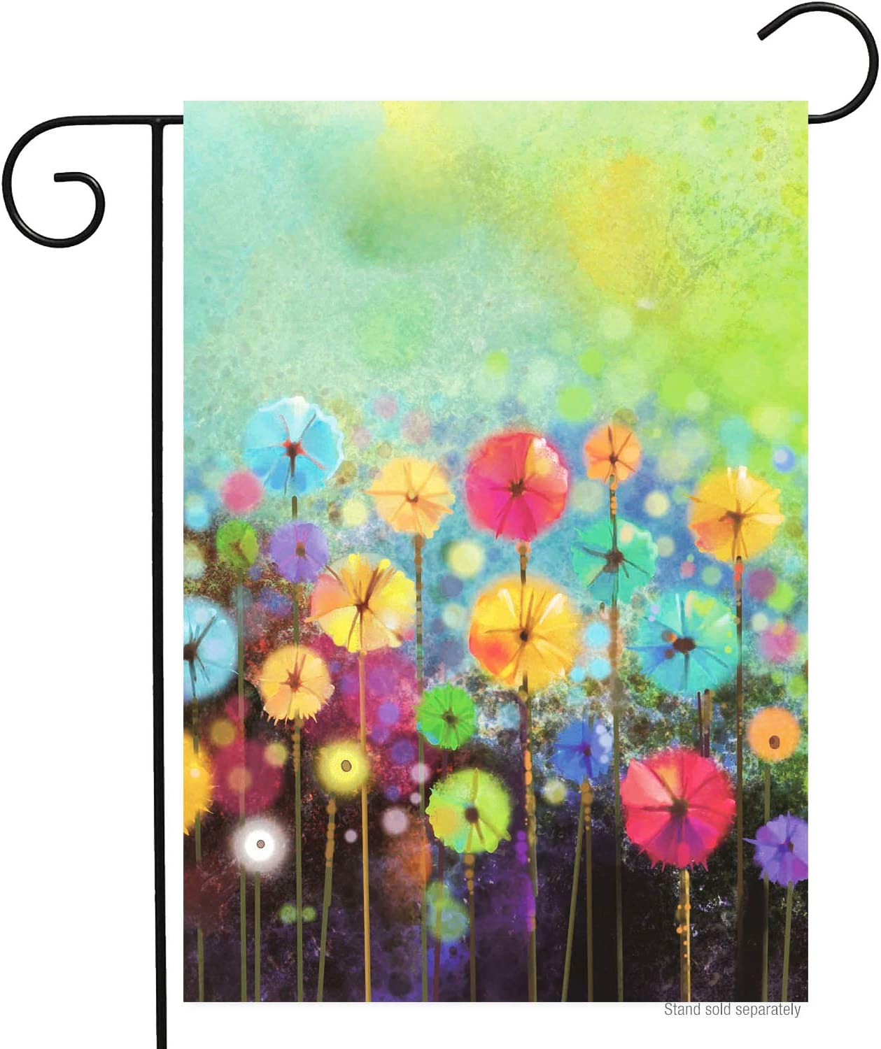 Spring Painted Poppy Garden Flag 12x18 Double Sided Small Colorful Watercolor Summer Poppies Floral Flower Welcome Memorial Day Yard Garden Flags Banners for Patio Lawn Indoor Outdoor